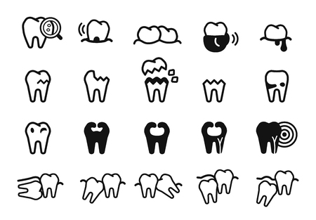 General toothache icon. teeth protection care concept. Problem in oral.