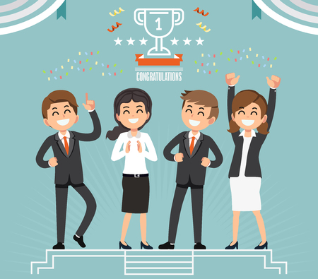 Winner hard work. Easy victory life idea concept. The success of one team organization together. Good friendship in the workplace.