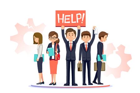 La tasa de desempleo de los recién graduados. Problema en los empleados de la oficina general de despido. Empresa termina nueva generación de trabajadores.