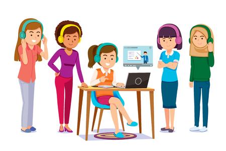 Aprendizaje en línea a través de herramientas electrónicas en conjunto. La gente comparte y encuentra el autoconocimiento en cualquier lugar. Servicio de contenido de video y libros electrónicos en Internet.