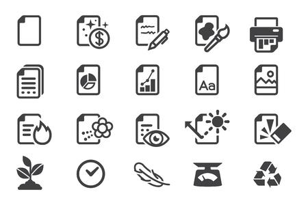 Identity of photocopy paper product(icon).