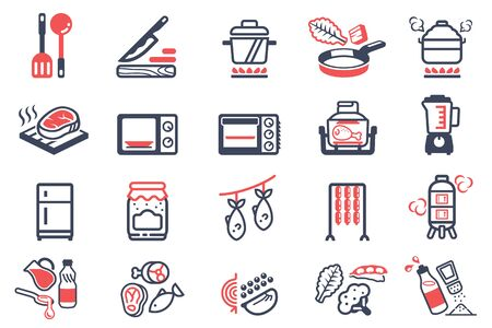 cooking and kitchenware and icon. Stock Illustratie