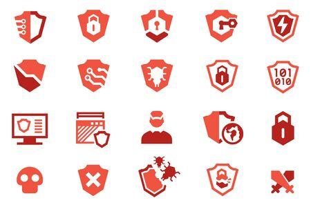 Protection software program icon. antivirus computer concept. Ilustração