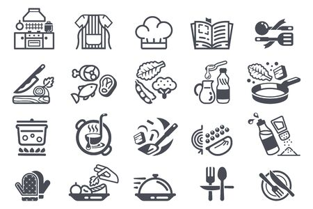 cooking in kitchen room icon.