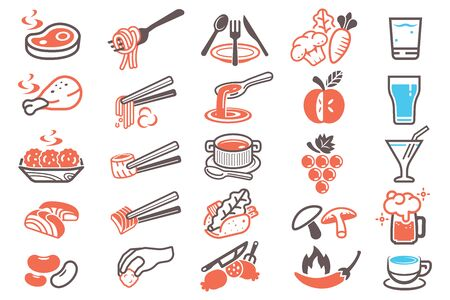 Food Style Each Meal Symbol. Menu daily.