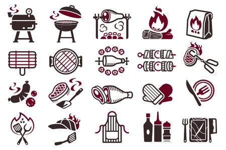 Barbecue fight cooking symbol. Foto de archivo - 128790430