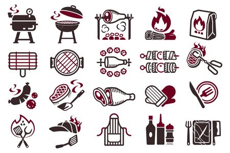 Grill-Kampf-Kochen-Symbol.