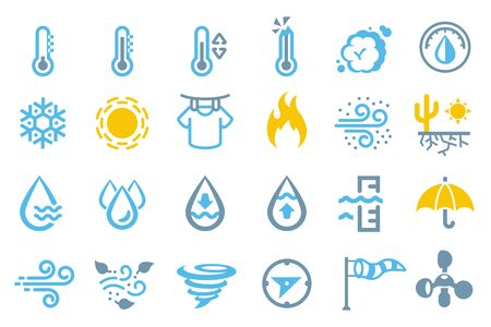Weather element icon. Climate symbol general.
