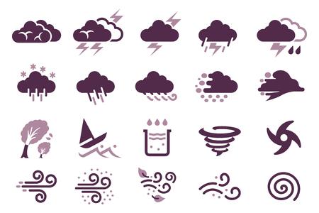Storm weather and situation of rainy season icon. Standard-Bild - 124946459