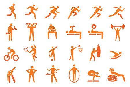 Exercise to challenge yourself. Sport healthy concept. Ilustração