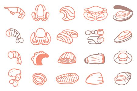 Basic Seafood ingredients of Thai BBQ or other menu