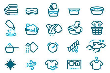 Washandje met je hand. Traditioneel huishoudelijk werk.