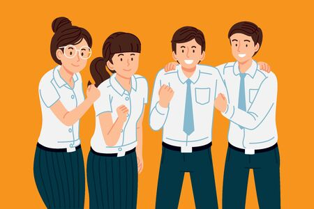 Thai university student team have working together to succeed.