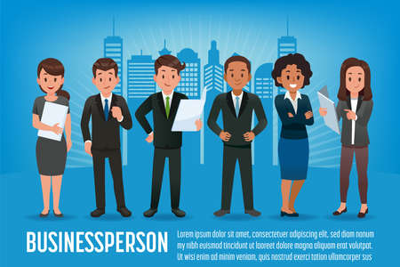 Businessperson character design. And Professional international employees. Different staff.