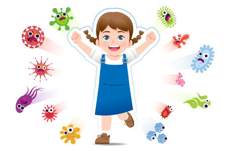 European girl have a immune to certain bacteria and viruses so that they can live a fun, age-appropriate life. Safety in keeping children away from serious diseases.