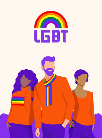 LGBT people poster design. The diversity and nuances of the lifestyles of each person.