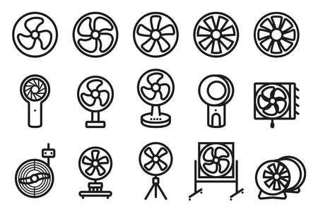 Various types of fans used in household to industrial.