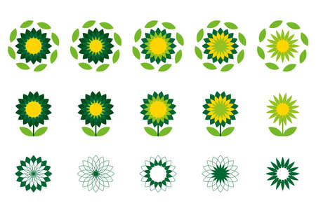 Sunflower logo. Design concept is a company that conducts business with rightness work stable ,ensure and promote society.