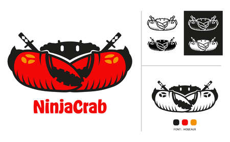 Ninja crab logo concept design for seafood restaurant, sport team and all every use for company.