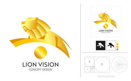 Logo concept design for organizations or brand with progressive vision are the leaders of various business competitions. People with strong and progressive ideas are similar to lion.