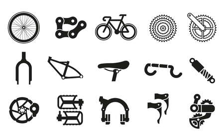 Common bicycle parts for assembling parts into 1 bicycle.