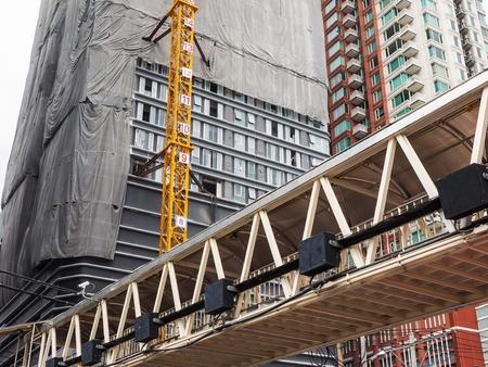 都市の高層ビルを建設 写真素材