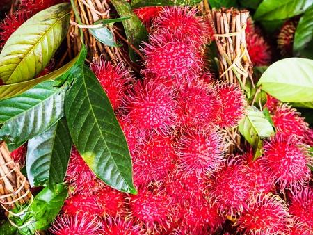 Rambutan in the market
