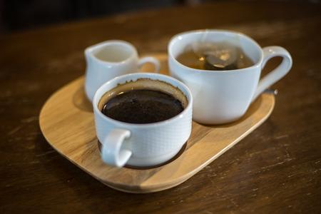 hots: black coffee and tea