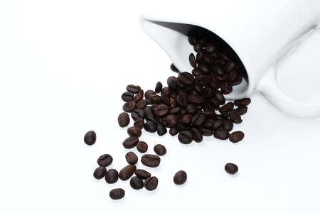 Coffee with Pitcher on a white background