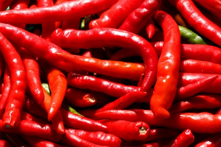 Background of red chilli suit for using in advertising design  Stock Photo - 12756363