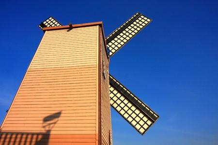 Turbines on the blue sky