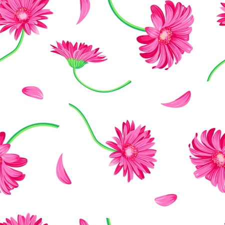 Gerbera daisy pink on the white background Stock Vector - 12756373