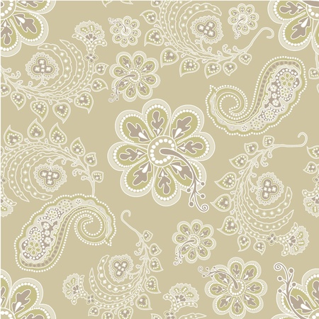 Beautiful flower wallpaper seamless Vector