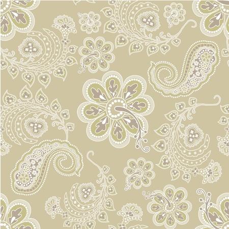 Beautiful flower wallpaper seamless Vector