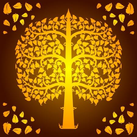 linde: Design von Bodhi-Baum Vektor Illustration