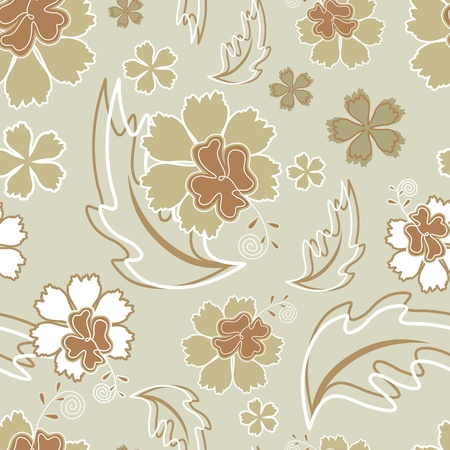 Hibiscus wallpaper seamless Vector