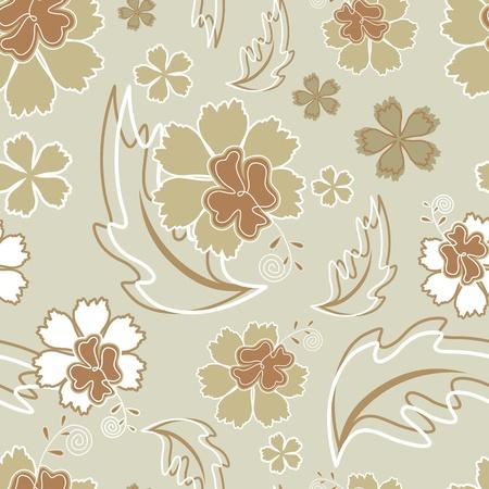Hibiscus wallpaper seamless Vector