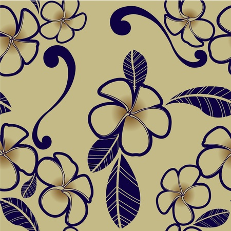 Plumeria flower wallpaper for design Vector