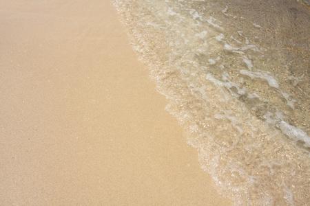 Sea wave and sand on the beach