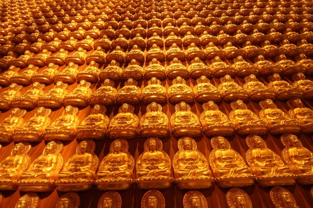 chinese philosophy: Pattern of gold buddha Stock Photo