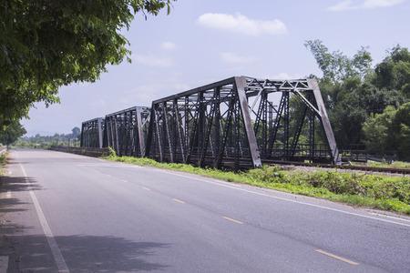 iron oxide: iron bridge on cement pillars