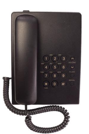 old antique black phone Foto de archivo