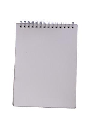 White notebook isolated on white Reklamní fotografie