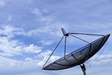Satellite dish blue sky communication technology network Zdjęcie Seryjne