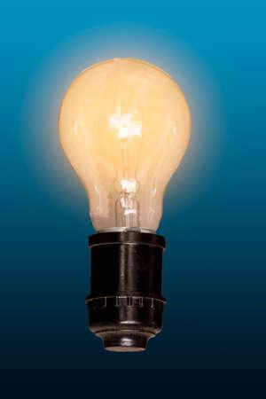 Orange light bulb, brightness, ideas.