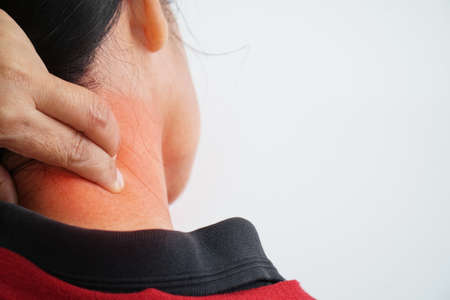 Red swelling of the neck