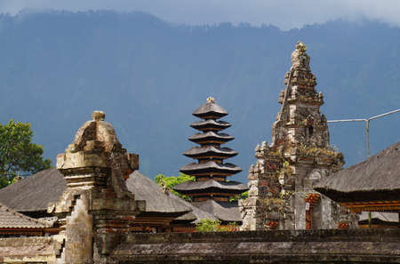 The pinnacle of bali style pagoda at Bali, Indonesia photo