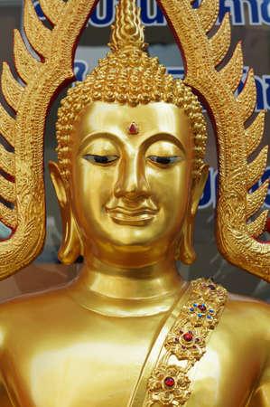 The gold buddha in Bangkok, Thailand Stock Photo - 18107398