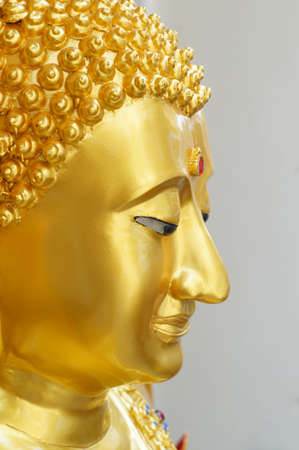 The head of gold buddha in Bangkok, Thailand Stock Photo - 18107388