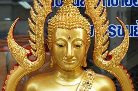 The gold buddha in Bangkok, Thailand Stock Photo - 18107397